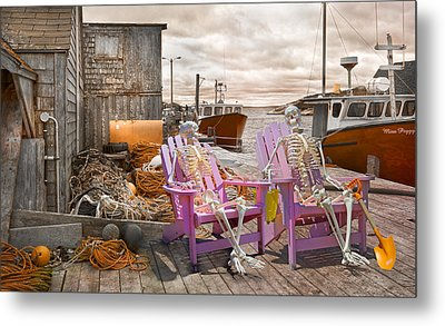 Dock Buddies Metal Print by Betsy Knapp