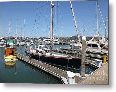 Docks At Sausalito California 5d22688 Metal Print by Wingsdomain Art and Photography