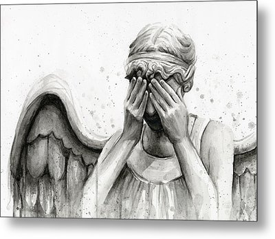 Doctor Who Weeping Angel Don't Blink Metal Print by Olga Shvartsur