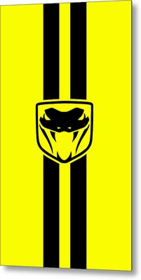 Dodge Viper Yellow Phone Case Metal Print by Mark Rogan