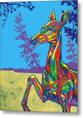 Doe Metal Print by Derrick Higgins