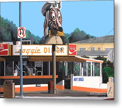 Doggie Diner 1986 Metal Print by Wingsdomain Art and Photography