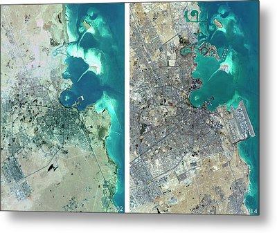 Doha Urban Spread Metal Print by Planetobserver