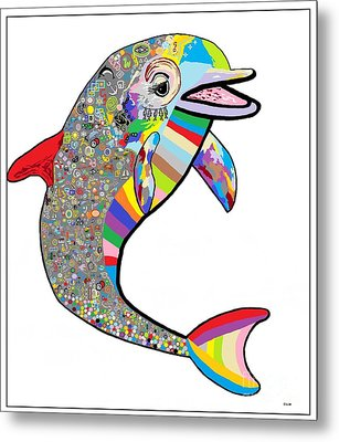 Dolphin - The Devil's In The Details Metal Print by Eloise Schneider