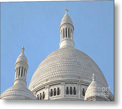 Dome Of Sacre-coeur Metal Print by Ann Horn