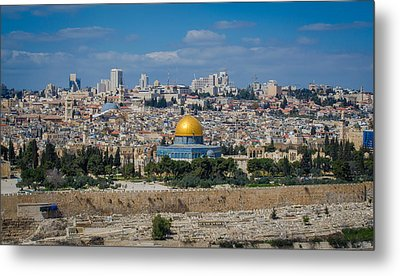 Dome Of The Rock In Jerusalem Metal Print by David Morefield