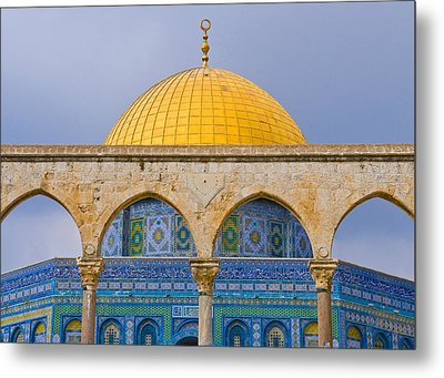 Dome Of The Rock Metal Print by Kobby Dagan