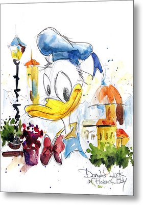 Donald Duck In Florence Italy Metal Print by Andrew Fling