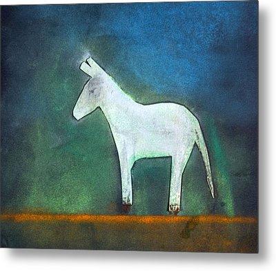 Donkey, 2011 Oil On Canvas Metal Print by Roya Salari