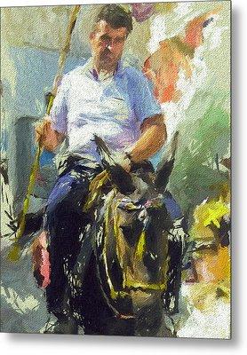 Donkey Ride Metal Print by Yury Malkov