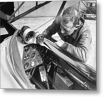 Doolitle' Blind Plane Metal Print by Underwood Archives
