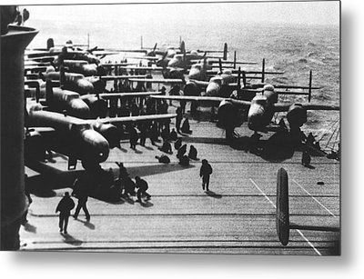 Doolittle's Raider Planes Metal Print by Underwood Archives