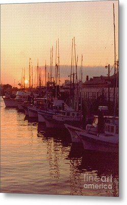 Door County Wisconsin Egg Harbor Sunset 1981 Metal Print by ImagesAsArt Photos And Graphics