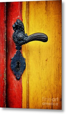 Door Handle Metal Print by Martin Dzurjanik