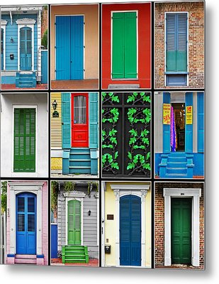 Doors New Orleans Metal Print by Christine Till