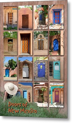 Doors Of New Mexico II Metal Print by Heidi Hermes
