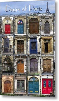 Doors Of Paris Metal Print by Heidi Hermes
