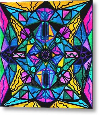 Dopamine Metal Print by Teal Eye  Print Store