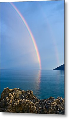 Double Rainbow Metal Print by Christos Andronis