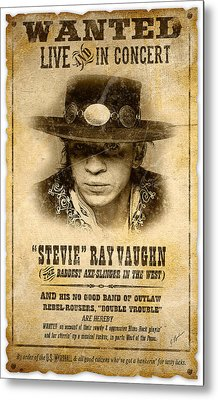 S. R. V. Wanted Poster 2 Metal Print by Gary Bodnar