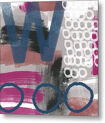 Double Ve- Abstract Painting Metal Print by Linda Woods