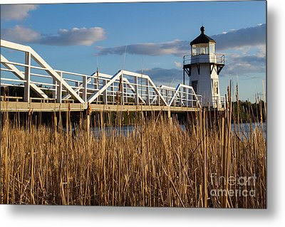 Doubling Point Lighthouse Metal Print by Denise Lilly