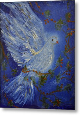 Dove Spirit Of Peace Metal Print by Louise Burkhardt