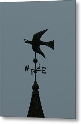Dove Weathervane Metal Print by Ernie Echols
