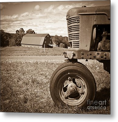 Down On The Farm Metal Print by Edward Fielding