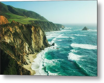 Down The Pacific Coast Highway... Metal Print by Photography  By Sai