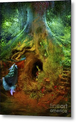 Down The Rabbit Hole Metal Print by Aimee Stewart