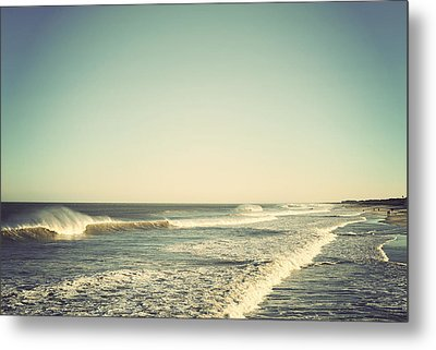 Down The Shore - Seaside Heights Jersey Shore Vintage Metal Print by Terry DeLuco
