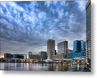 Downtown Baltimore Metal Print by Olivier Le Queinec