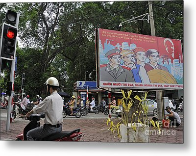 Downtown In Hanoi Metal Print by Sami Sarkis