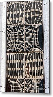 Downtown Reflection Metal Print by Kate Brown