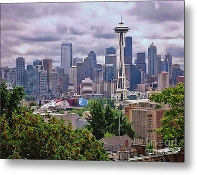 Downtown Seattle From Kerry Park Metal Print by Allen Beatty