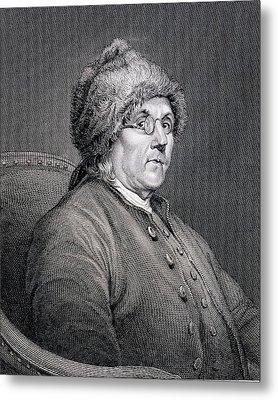 Dr Benjamin Franklin Metal Print by English School