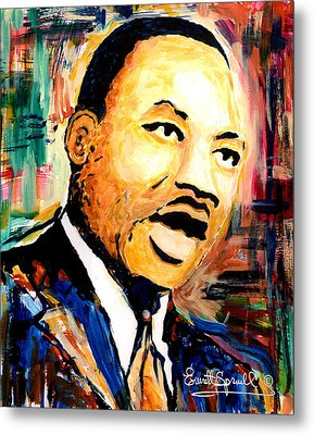 Dr. Martin Luther King Jr Metal Print by Everett Spruill