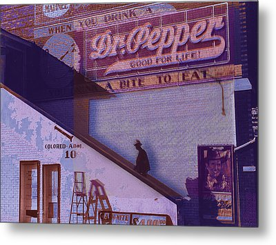 Dr Pepper Blues The Way It Was Metal Print by Tony Rubino