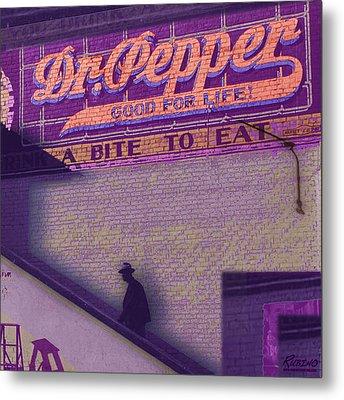 Dr Pepper Blues Metal Print by Tony Rubino