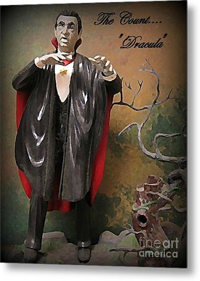 Dracula Model Kit Metal Print by John Malone