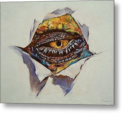 Dragon Eye Metal Print by Michael Creese