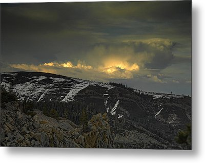 Drama Is Coming Metal Print by Donna Blackhall