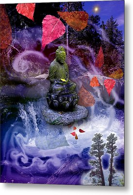 Dream Buddha Metal Print by Alixandra Mullins