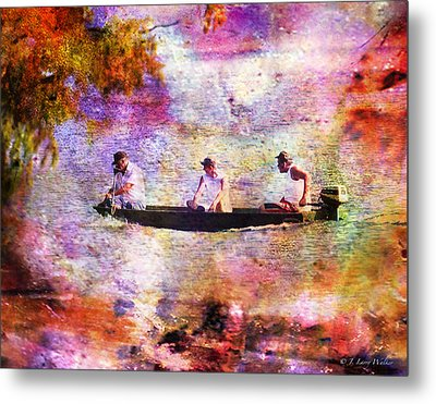 Dreaming About Fishing Metal Print by J Larry Walker