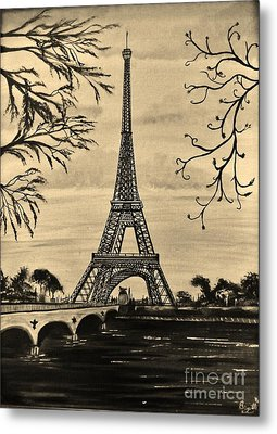 Dreaming Of Paris 2 Metal Print by Brigitte Emme