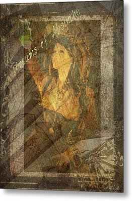 Dreams Of Absinthe - Steampunk Metal Print by Absinthe Art By Michelle LeAnn Scott
