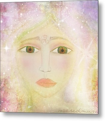 Dreams Of Avalon Tipple Goddess Guinevere  Metal Print by Sacred  Muse