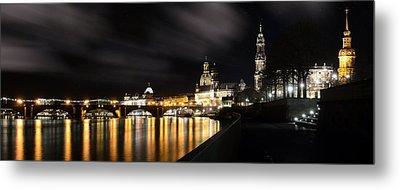 Dresden At Night Metal Print by Steffen Gierok