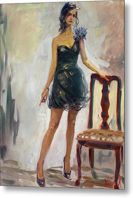 Dressed Up Girl Metal Print by Ylli Haruni